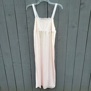 Vtg Peach Lingerie Nightgown Large